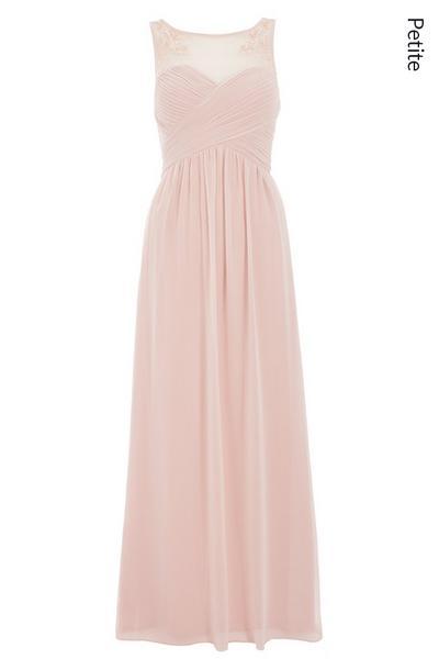 Petite Pink Sweetheart Maxi Dress